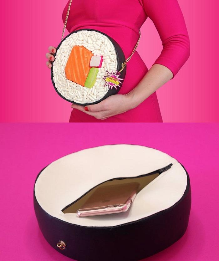 torebki jedzenie sushi