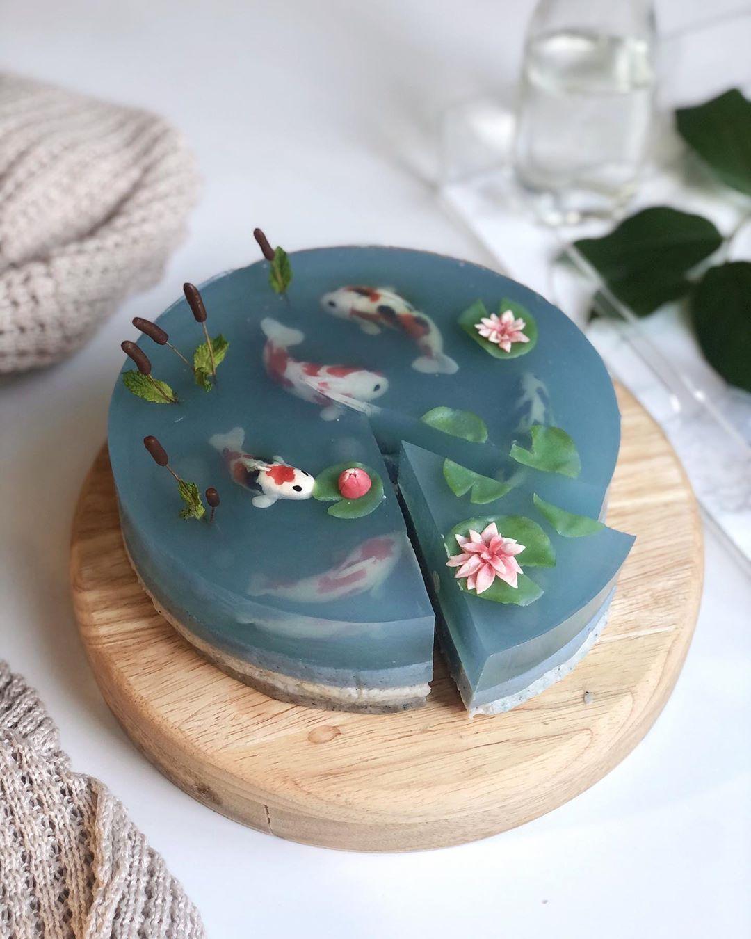 transparentne ciasto jeziorko