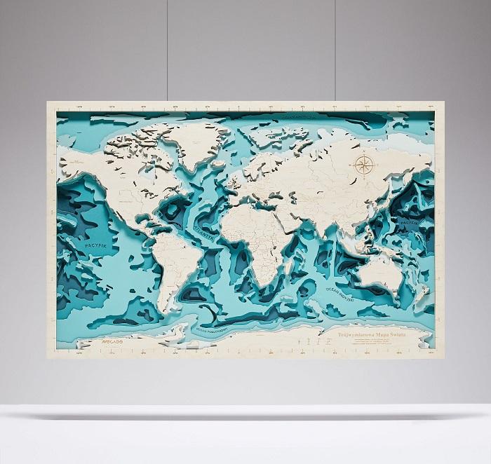 trojwymiarowa morska mapa swiata