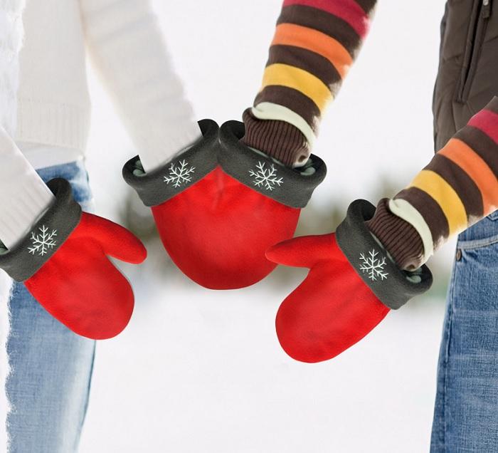 Zakochane rękawiczki dla pary