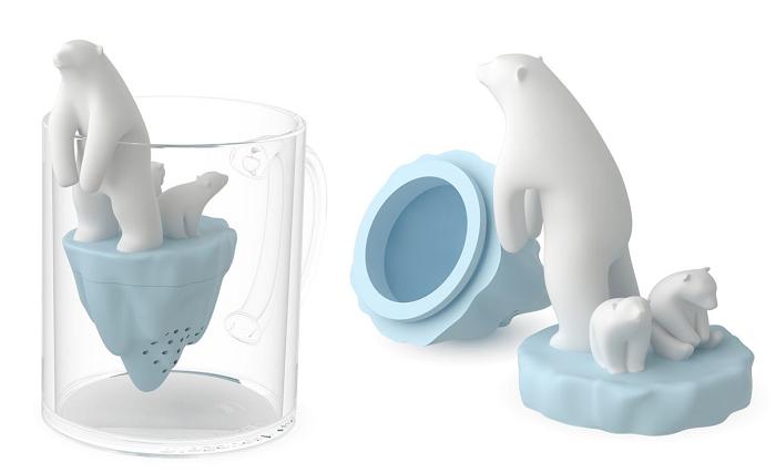 Zaparzacz do herbaty miś polarny