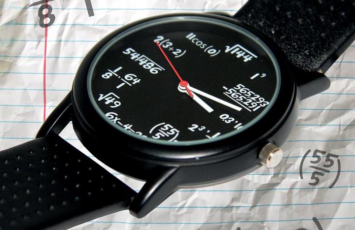 Zegarek wzory matematyczne