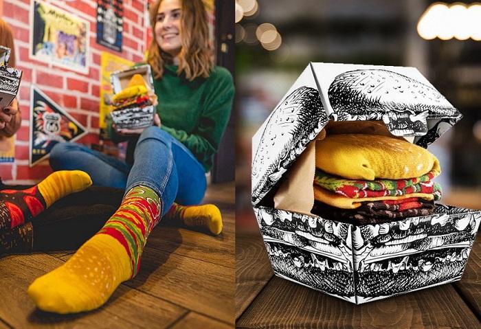 zestaw skarpettek burger