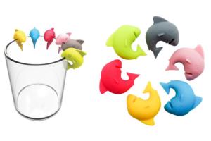 Znaczniki na szklanki rekiny